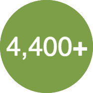 More than 4,400 users daily